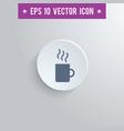coffee mug symbol icon on gray shaded background vector image