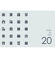Set of gifts icons vector image