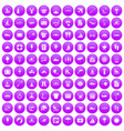 100 water recreation icons set purple vector image vector image