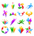 abstract people teams group body silhouette shapes vector image vector image