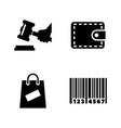 auction simple related icons vector image