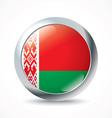 Belarus flag button vector image vector image