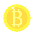 bitcoin coin golden isolated vector image vector image