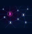 blockchain concept banner circle blocks vector image