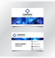 blue geometric business card vector image vector image