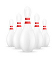 bowling icon realistic style vector image vector image