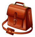 brown bag made of leather vector image