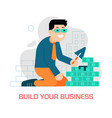 building and growing business concept vector image