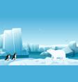 cartoon nature winter arctic ice landscape vector image vector image
