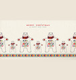 christmas and new year polar bear greeting card vector image