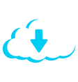 cloud storage download vector image