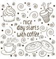 coffe quote vector image vector image
