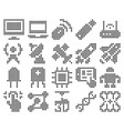 collection dotted icons high technology vector image vector image