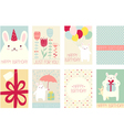Collection of birthday banners vector image vector image