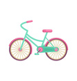 Colorful flat elegant bicycle vector image