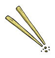 comic cartoon chopsticks vector image vector image