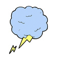 comic cartoon thundercloud symbol vector image vector image