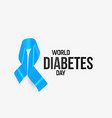 diabetes awareness ribbon blue symbol vector image