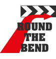 direction road sign round bend eps10 vector image