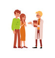 doctor and family having infertility problems flat vector image