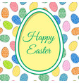 easter eggs and greetings vector image