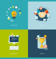 flat banners set vector image vector image