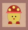 flat shading style icon kids mushroom vector image