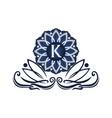 flower elegant icon initial k vector image vector image