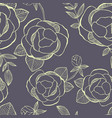 flower seamless pattern with hand drawing flowers vector image