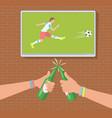 football fans in bar vector image vector image