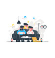 friends sitting on couch and playing video games vector image vector image