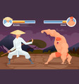 game fighting screen location of computer 2d vector image vector image