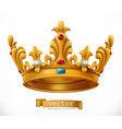gold crown king icon vector image vector image