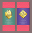 golden label and best choice vector image vector image