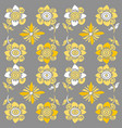 grey and yellow flowers modern vector image vector image