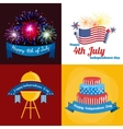 Happy fourth of july Independence Day vector image vector image