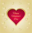 Happy Valentines day red heart greeting card vector image vector image