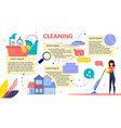 house cleaning flat infographics poster vector image