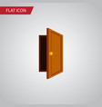 isolated exit flat icon entry element can vector image vector image
