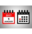 January 1 flat daily calendar icon Date