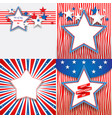 july fourth holiday stars vector image vector image