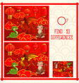 kids new year find ten differences puzzle game vector image