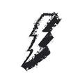 Lightning bolt grunge icon Thunderbolt Lev vector image