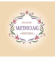 logo with a vignette of flowers vector image