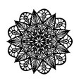 mandala for coloring book unusual flower shape vector image vector image