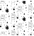 Milk and cookie seamless pattern vector image vector image