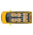 minivan with premium touches passenger van or vector image vector image