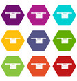 parking icons set 9 vector image vector image