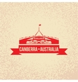 parliament house symbol canberra australia vector image vector image