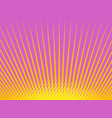 pink yellow background rays vector image